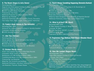 Songs for FINCA 5