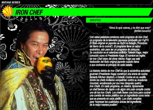 Nuevas Series - Iron Chef - Canal Sony