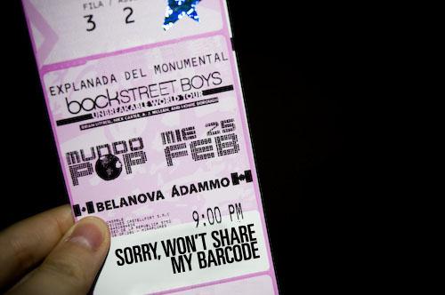 BSB en Lima Ticket