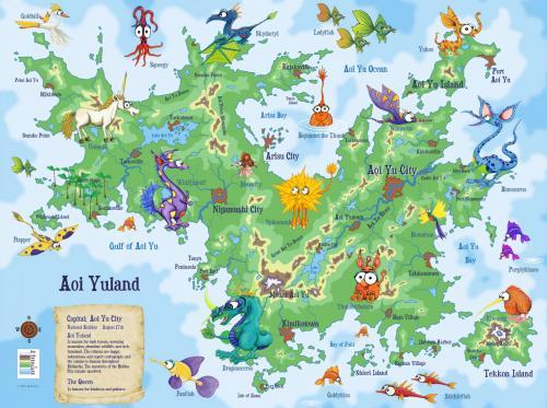 Aoi Yuland Map with Kidlandia