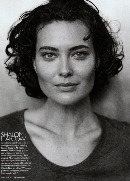 Shalom Harlow by Peter Lindbergh